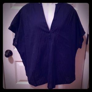 Gap macy blue short sleeve popover Size XXL